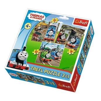 Пъзел Влакчето ТОМАС 3в1 (106ч.), Thomas & Friends Trefl puzzle, 34821