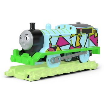 "Влакче ТОМАС със ""Светещи"" релси Thomas & Friends Motorized Thomas Glow in the Dark от серията TrackMaster, FVJ73"
