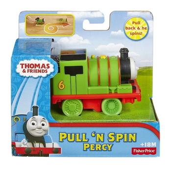 Влакче ПЪРСИ Thomas & Friends, Percy Pull 'n Spin от серията My First Thomas, Fisher Price, BCX67