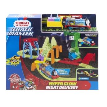 Игрален комплект Нощна доставка Thomas & Friends HYPER Glow night delivery от серията TrackMaster, GGL75