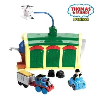Игрален комплект Thomas & Friends, Tidmouth Sheds Engine Depot, Fisher Price, W4712