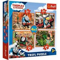 Пъзел Влакчето ТОМАС 4в1 (207ч.), Thomas & Friends Trefl puzzle, 34300