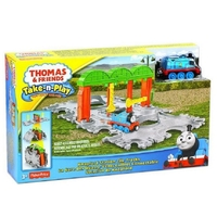 Игрален комплект Thomas & Friends Knapford Station Tile Tracks от серията Take-n-Play, Fisher Price, CDN06
