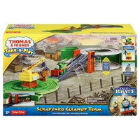Игрален комплект Thomas & Friends Scrapyard Clean-up Team Percy от серията Take-n-Play, Fisher Price BCX24